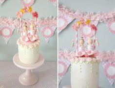 Ice Cream Party Cake via Kara's Party Ideas - www.KarasPartyIdeas.com