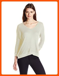 VELVET BY GRAHAM & SPENCER Women's Thermal Knit Dolman Top, Cream, Small - All about women (*Amazon Partner-Link)