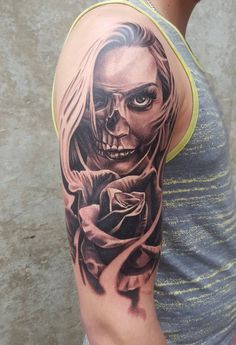 Lacatrina & Rose. Done by Monty Ricken at monsters ink Alberta.