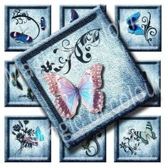 Digital Collage of  Original Butterfly Illustration  63  by Aenota