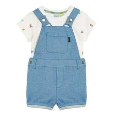 Baby & Toddler Clothing Boys John Rocha Denim Dungarees Age 3-6 Months Up-To-Date Styling