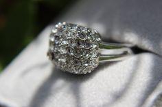 Sterling SIlver Sparkle Diamond Recycle Rhinestone by ashybaby87, $45.00