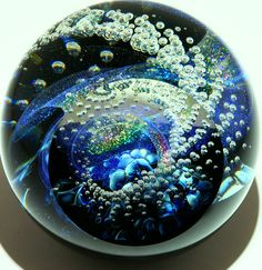 Art Dichroic Glass paper weights from Kela's...a glass gallery on Kauaii