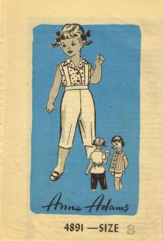 Anne Adams Sewing Pattern 4891 Toddler Girls Dress Pattern with Blouse and Jacket Too From the 1950s Complete Nice Condition 8 of 8 Pieces Unprinted Pattern Counted. Verified. Guaranteed. Size 8 (26""