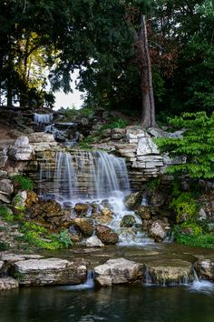 "The Cascades ""Flegel Falls"" in Forest Park, St. Louis, Missouri"