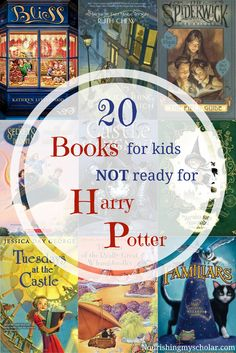 20 Books for kids NOT ready for Harry Potter: what if your child isn't ready for Harry Potter? What books are similar but for a younger audience? I've scoured the internet looking for great fantasy adventure books, alike to the famous Harry Potter series,