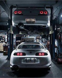Nissan Skyline GT-R x Toyota Supra l Dream Garage Nissan Skyline R33, Nissan 350z, Nissan Silvia, Tuner Cars, Jdm Cars, Camaro Auto, R34 Gtr, Toyota Supra Mk4, Street Racing Cars