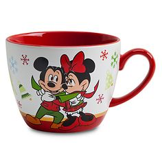 I want!!! :D Minnie Mouse Cappuccino Mug - Holiday | Drinkware | Disney Store
