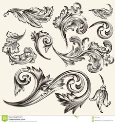 collection-vector-vintage-flourishes-set-calligraphic-elements-design-calligraphic-41777917.jpg (1300×1390)