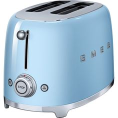 Smeg Retro Toaster – 2 Slice TSF01PBUK - 2 Year Guarantee  This stylish TSF01PBUK Smeg retro toaster with a pastel blue finish is the perfect addition to any traditional or contemporary kitchen.  Toast bread, bagels, waffles, tea cakes and more with this compact design, specially created to sit neatly on your worktop..dpuf