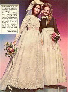 Vintage Weddings, Vintage Bridal, Colleen Corby, 1960s Fashion, White Lace, Marie, Ads, Culture, Disney Princess