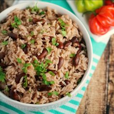 This Jamaican Rice and Peas recipe is an authentic recipe for a popular side dish to most Jamaican meals and is full of great Jamaican flavours.