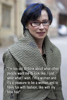 Advanced Style - Isabel (with quote) by Not Dressed As Lamb, via Flickr :: We should all have this attitude, at all ages.