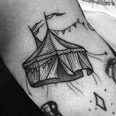 tattoos having us dying to read The Night Circus again. Above Elbow Tattoo, Elbow Tattoos, Sleeve Tattoos, Pretty Tattoos, Beautiful Tattoos, Tattoo You, Back Tattoo, Future Tattoos, Clown Tattoo