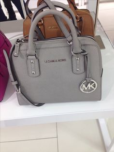 Michael Kors grey purse http://cheap-mkbags.de.hm $61.99 mk handbags,michael kors bags,cheap mk bags www.thegoodbags.com MICHAEL Michael Kors Handbag, Jet Set Travel Large Messenger Bag - Shop All -$67
