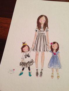 Custom watercolor - Jennifer Vallez