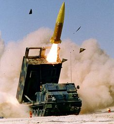 MLRS in action. Who wants a piece 'o that?