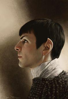 Striking 'Star Trek Into Darkness' Photorealistic Portrait Of Zachary Quinto's Spock