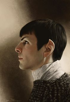 Striking 'Star Trek Into Darkness' Photorealistic Portrait Of Zachary Quinto's Spock