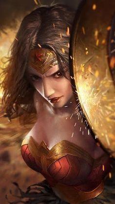 Wonder Woman is incredibly faithful to DC Comics, but it also makes some significant changes to Diana& origin story. Wonder Woman Kunst, Wonder Woman Art, Wonder Woman Comic, Gal Gadot Wonder Woman, Wonder Women, Superman Wonder Woman, Fantasy Girl, Fantasy Art Women, Heros Comics