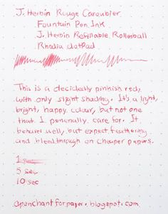 A Penchant for Paper: Ink Review: J. Herbin Rouge Caroubier