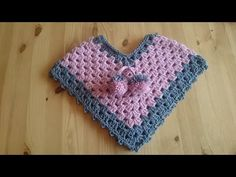 NewBorn - 3 Months Poncho - Crochet - Tutorial - English - YouTube
