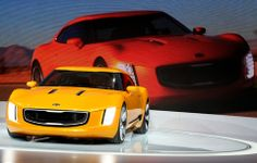 The Kia GT4 Stinger Concept revealed to the media at the 2014 North American International Auto Show in Detroit, Michigan on Monday, Jan. 13, 2014. / Eric Seals/Detroit Free Press