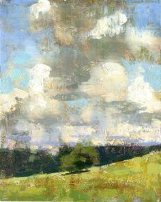 Jon Redmond, Sky, oil on board, 10 x 10 inches