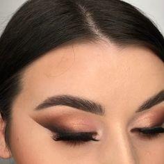 Basic Eye Makeup, Day Eye Makeup, Soft Eye Makeup, Kylie Makeup, Dark Skin Makeup, Brown Eyeshadow Looks, Brown Smokey Eye Makeup, Soft Smokey Eye, Brown Makeup