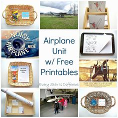 Every Star Is Different: Airplane Unit w/ Free Printables Airplane Activities, Transportation Activities, Kids Learning Activities, Montessori, Aviation Theme, School Themes, School Ideas, Childhood Education, Planer
