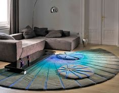 A 8 Foot Round Area Rugs  Carpet For Living RoomModern