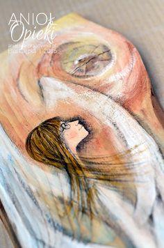 """Podaruj dziecku """"Anioła Opieki"""" z okazji chrzcin, komunii, pełnoletności tzn 18-stki lub z jakiejkolwiek innej okazji w jego życiu. Taki Anioł zawsze będzie symbolem Twojej troski, wsparcia i opieki. Guardian Angels, Easy Paintings, Watercolor Tattoo, Author, Temp Tattoo"""