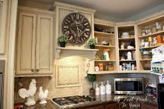 How to achieve this French country kitchen look with chalk paint.