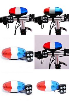 [Visit to Buy] 6LED 4Tone Horn for Bicycle Bike For Kids Bike Bells Police Car LED Bike Light Electronic SirenAccessories Scooter #Advertisement
