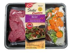 Tyson® Mongolian Style Beef Kit is delicious and ready in 15 minutes! This kit includes strips of beef chuck, precut fresh white onions, broccoli, carrots, and green bell peppers, Mongolian style sauce and rice.