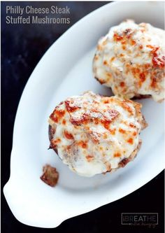 Low-carb Philly Cheese Steak Stuffed Mushrooms