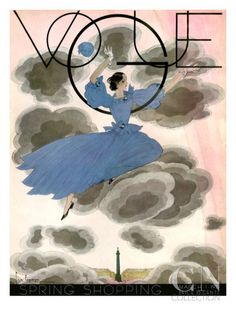Vogue Cover - March 1933 Poster Print by Georges Lepape at the Condé Nast Collection