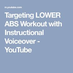 Targeting LOWER ABS Workout with Instructional Voiceover - YouTube