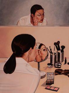 "SPA TOP40 2013 - Pippa Lea Pennington  //  ""Sara doing her make-up""  / Oil on Canvas  /  122x91cm"