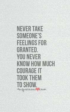 Never Take Someone's ...