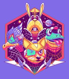 Star Fox Pixel Art Video Game Posters, Video Game Art, Video Games, Fox Gif, Barrel Roll, Fox Series, Fox Pictures, Gifs, Star Fox