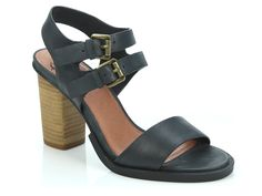EOS Footwear 'Theo' in Black - Double thin strap with buckles and block heel. Also available in Brandy and Taupe. Winter Shoes For Women, Italian Leather, Eos, Block Heels, Taupe, Footwear, Pairs, Sandals, Summer