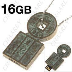Usb Drive, Retro, Copper Coin, Coin Design, Flash Memory, Arrow Necklace, Jewelry, Jewlery, Usb Flash Drive