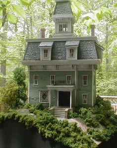 Howard Zane Structures - Appalachian House I love his works (RM) Fairy Houses, Play Houses, Doll Houses, Mini Houses, Miniature Furniture, Dollhouse Furniture, Diy Furniture, Miniature Houses, Miniature Dolls