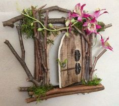 Fairy Door Each One of a Kind Handcrafted by OliveNatureFolklore