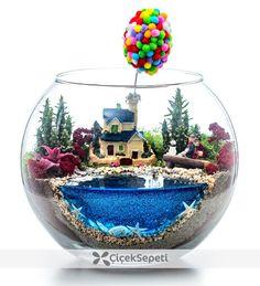 Succulent Arrangements, Succulents Garden, Fairy Fountain, Balloon House, Cactus Terrarium, Terrarium Wedding, Eco Garden, Mini Bonsai, Garden Bulbs