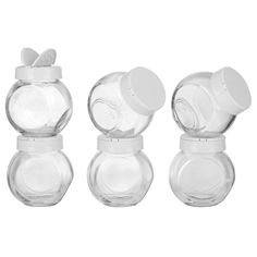 Euro-Ware 6-piece Clear Spice Jars with Lids