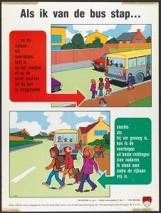 Als ik van de bus stap ... (Insurance. Politics & propaganda posters Belgium) #Booktower