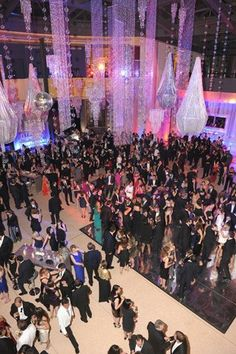 The MSNBC afterparty for White House Correspondent Dinner had a mirrored dance floor that was full for most of the evening.