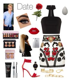 """Date with Niall🍷🍾"" by onedirection-fanfictionclothing ❤ liked on Polyvore featuring Dolce&Gabbana, Gianvito Rossi, Stella & Dot, Lime Crime, Anastasia Beverly Hills, Olivia Burton, Smashbox, Christian Dior, Kendra Scott and beautyblender"